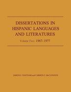 Dissertations in Hispanic Languages and Literatures